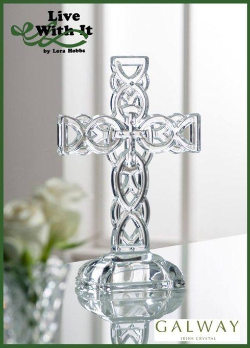 Galway Irish Crystal  Lucky Finds Celtic Cross $60.00