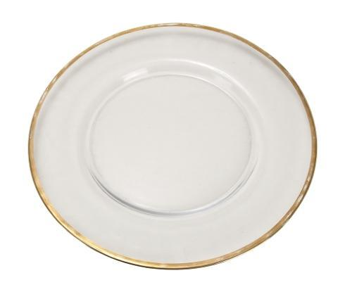 Elegance by Leeber  Chargers Gold Rim Glass Charger, Set of 4 $80.00