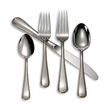 Gorham  Golden Ribbon Edge 5-Piece Place Setting $50.00