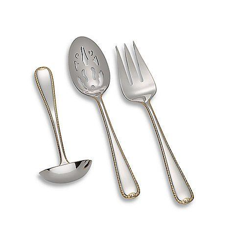 Gorham  Golden Ribbon Edge Hostess Set, 3-Piece $78.00