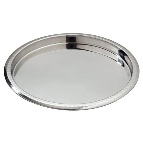 Elegance by Leeber  Hammered Metal Round Serve / Bar Tray $28.00