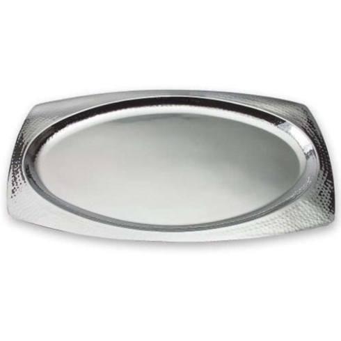 """Elegance by Leeber  Hammered Metal 22"""" Oval Serving Platter / Tray $55.00"""