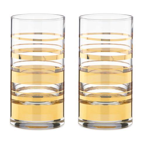 Kate Spade  Hampton Street Stemware and Barware HiBall Glasses, Set of 2 $50.00