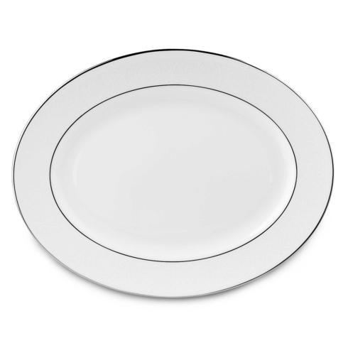 """Lenox  Hannah Platinum Oval Platter, 13"""" $161.00"""