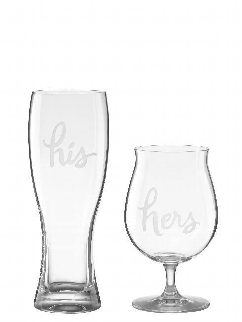Kate Spade  Two of a Kind His & Hers Beer, Set of 2 $50.00