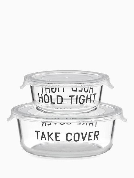 Kate Spade  On the Go Hold Tight Round Food Storage Containers, 4 Piece Set $30.00