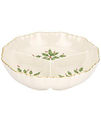Lenox  Holiday Archive Divided Serving Dish $40.00