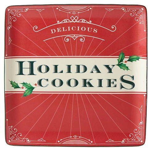 $30.00 Holiday Cookies Square Cookie Tray