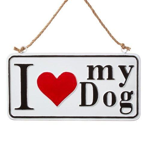 $12.00 I Love My Dog Sign