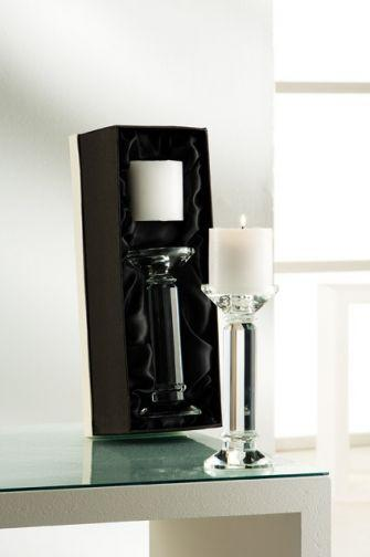 Galway Irish Crystal  Ritz Pillar Candleholder, 8