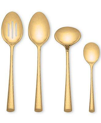 Marchesa by Lenox  Imperial Caviar Gold Flatware 4 Piece Hostes Set $105.00