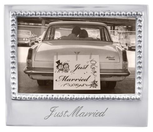 """Mariposa  Engraved Statements """"Just Married"""" 4 x 6 Frame $49.00"""