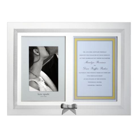Kate Spade  Grace Avenue Double Invitation Frame $110.00