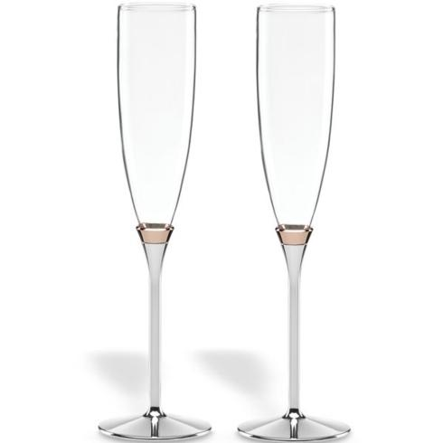 Kate Spade  Rosy Glow Toasting Flute Pair $100.00