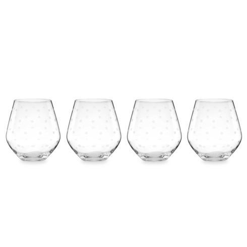 Kate Spade  Larabee Dot Barware Stemless Red Wine Glasses, Set of 4 $50.00