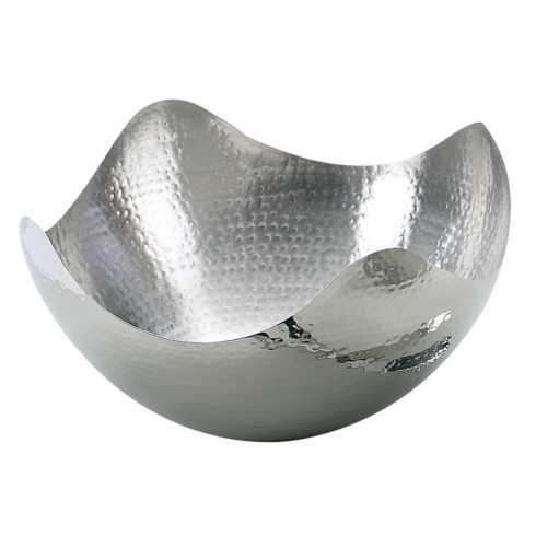 "Elegance by Leeber  Hammered Metal 10.5"" Large Wave Serving Bowl $28.00"