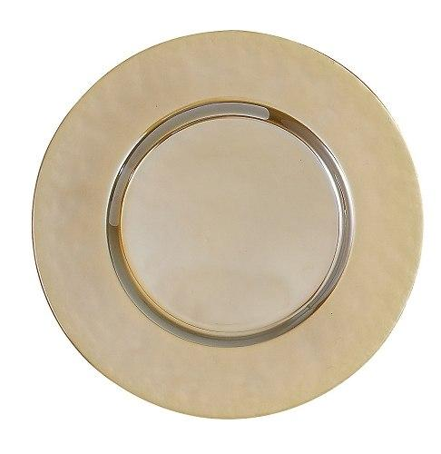 Elegance by Leeber  Chargers Glass Gold Lustre, Set of 4  $80.00