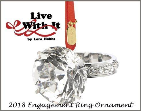 $21.00 2018 Engagement Ring Ornament