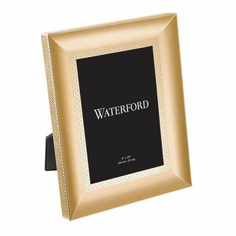 Live With It by Lora Hobbs Exclusives   Waterford- Lismore Diamond Gold 8x10 Frame $125.00