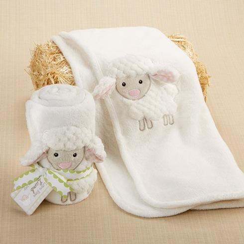 $22.00 Love EWE Lamb Plush Velour Blanket