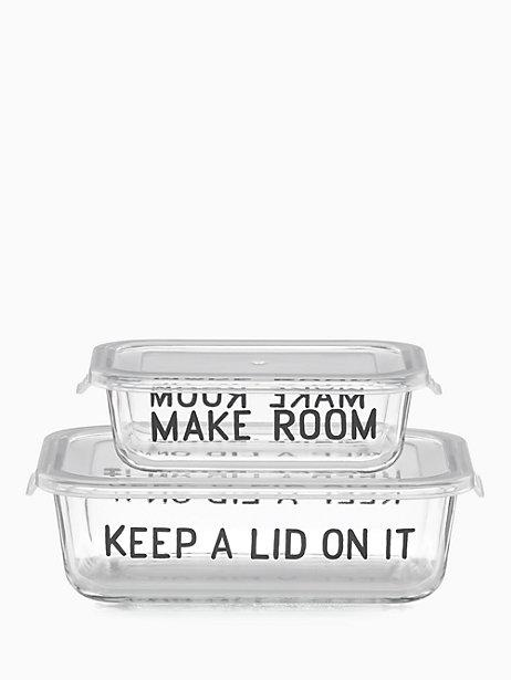 Kate Spade  On the Go Make Room Rectangular Food Storage Containers, 4 Piece Set $30.00