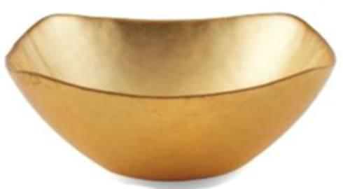 $25.00 Medium Square Gold Bowl