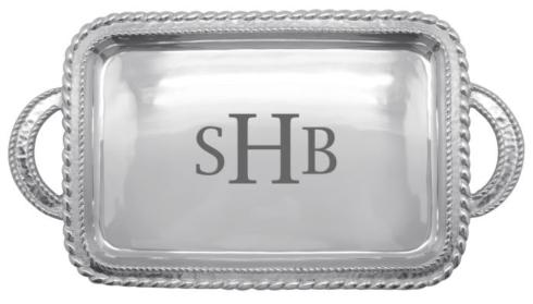 Mariposa  Engravable Gifts Custom Monogrammed Meridian Service Tray $133.00