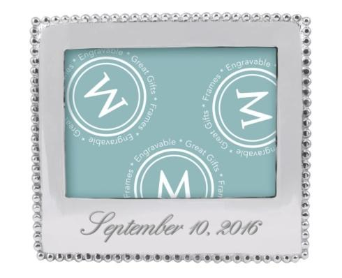 Mariposa  Engravable Gifts Custom Engraved Beaded 5 x 7 Statement Frame $84.00