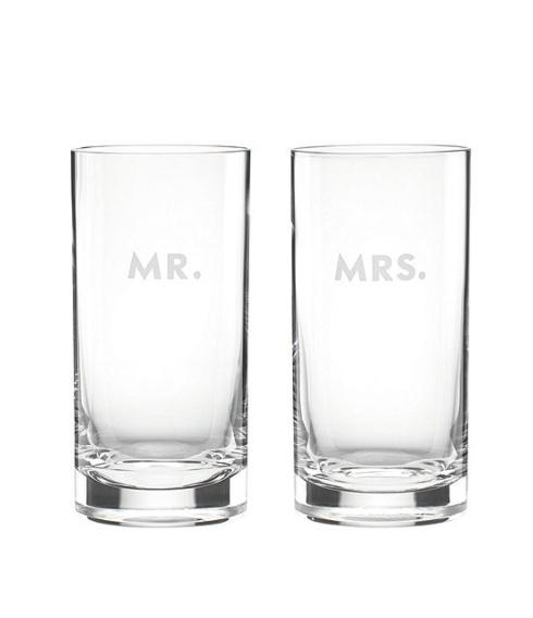 Kate Spade  Darling Point Mr. & Mrs. HiBall Glasses, Set of 2 $50.00