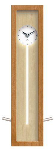Infinity Instruments   Illusion Natural Wood Wall/Table Pendulum Clock $59.00