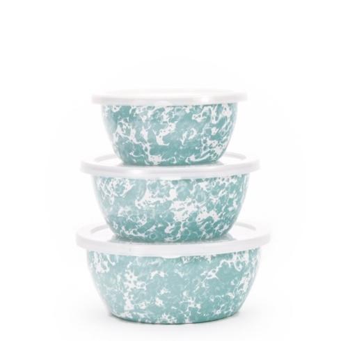 Golden Rabbit  Sea Glass Swirl Nesting Bowls (Set of 3) $38.00