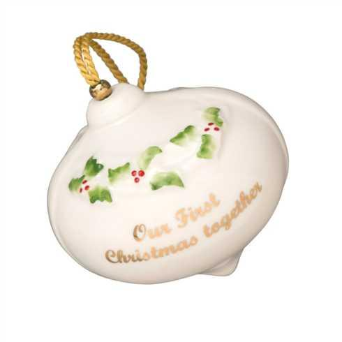 Belleek  Christmas Our First Christmas Bauble $40.00