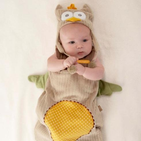 $42.00 My Little Night Owl Snuggle Sack & Cap