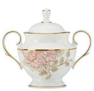 Marchesa by Lenox  Painted Camellia Covered Sugar $200.00