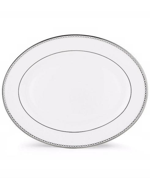 "Lenox  Pearl Platinum 13"" Oval Platter $230.00"