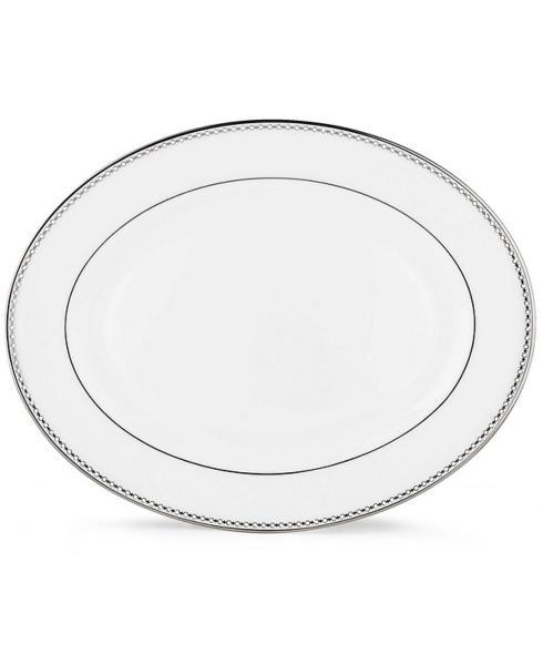 "Lenox  Pearl Platinum 16"" Oval Platter $280.00"
