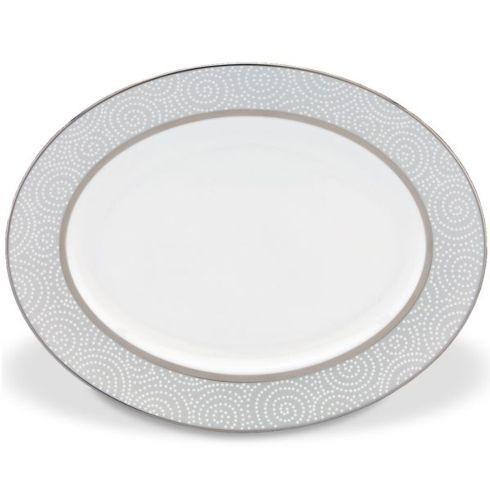 Lenox  Pearl Beads Oval Platter, 13