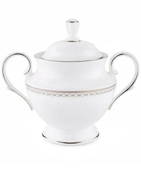 Lenox  Pearl Platinum Covered Sugar Bowl $149.00