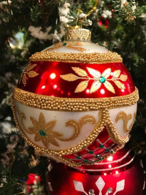 $19.00 Imperial Beaded Gem Ball Ornament