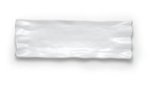 "Q Squared  Ruffle White Melamine Dinnerware and Serveware 21"" Rectangular Sandwich Platter $42.00"