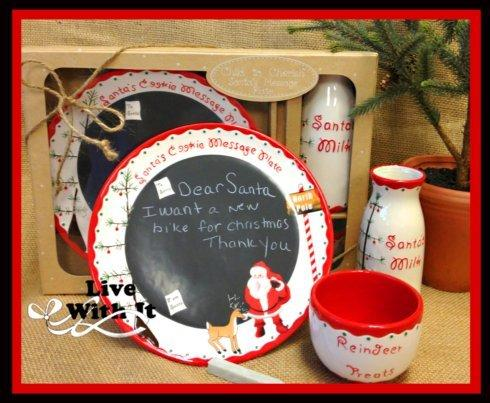 $38.00  Child to Cherish ~ Santa\'s Message Plate Gift Set