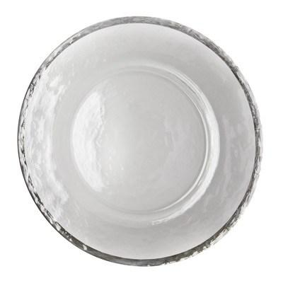 Elegance by Leeber  Chargers Silver Rim Glass Charger, Set of 4 $90.00