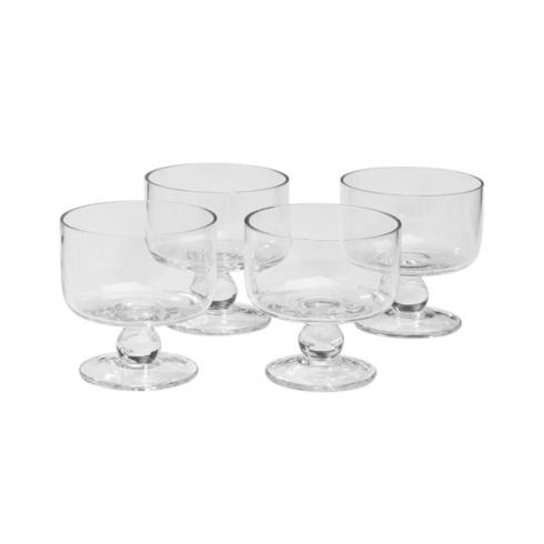 Artland  Simplicity Entertaining Set of 4 Footed Coupe Dessert Bowls $32.00