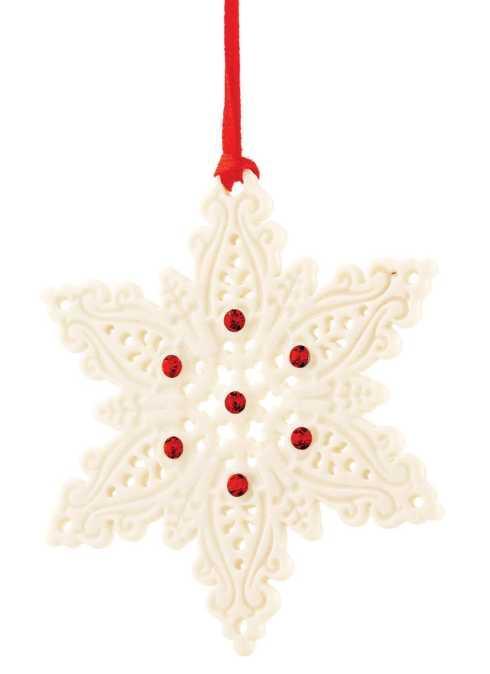 Belleek  Christmas Snowflake Hanging Ornament $18.00