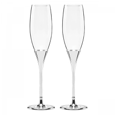 Kate Spade  Simply Sparkling Silver Glitter Flute Pair $65.00