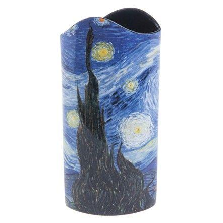 Live With It by Lora Hobbs Exclusives  Silhoette d'Art Starry Night Vase - Van Gogh $62.00
