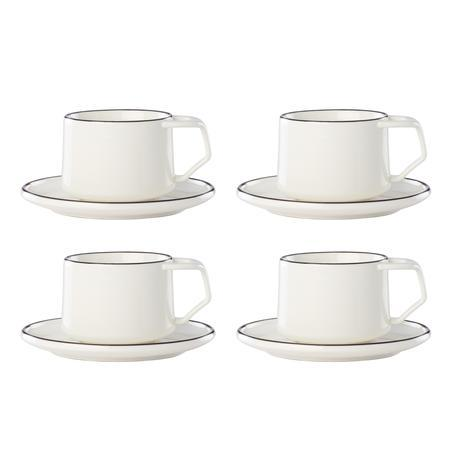 Teacup / Saucer, Set of 4