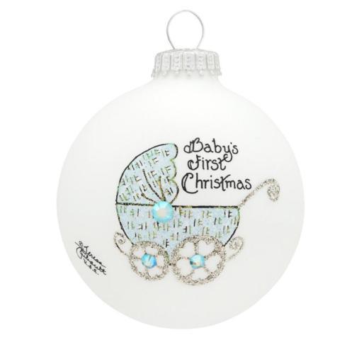 $22.00 Baby\'s First Christmas Ornament (Boy) --- with Swarovski Crystal