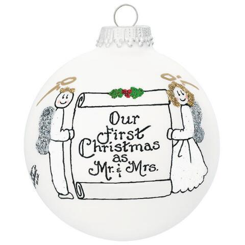 Heart Gifts by Teresa   Our First Christmas as Mr. & Mrs. Ornament  $22.00