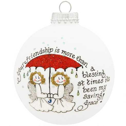 $22.00 Your Friendship is More than a Blessing Ornament
